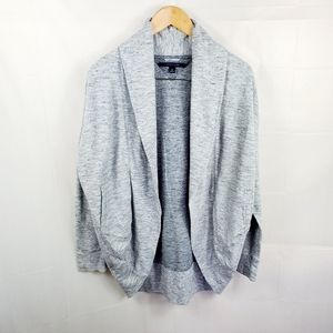 Tommy Hilfigher Athluxe Grey Open Cardigan SM